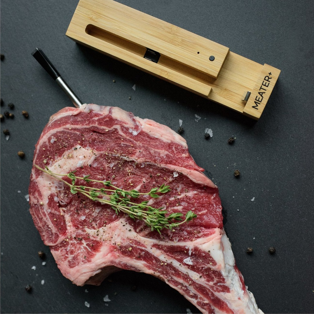 Kabelloses Grill Thermometer MEATER+ mit Bluetooth Repeater