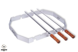 [Moesta-10249] Churrasco'BBQ - Set für Smokin'Pizzaring: 57 cm